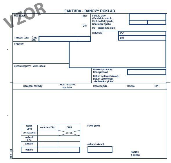 mSk 38 - Faktura 2/3 A4 s tab.na DPH