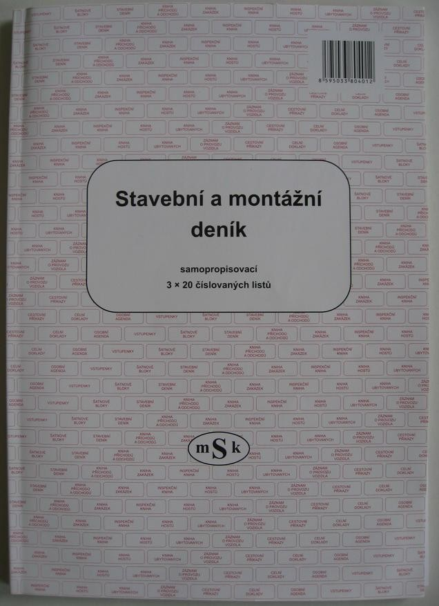 mSk 401 - Stavební deník NCR 3x20L