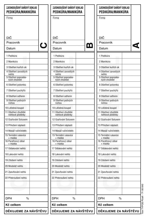PEDIKURA-MANIKURA-daňový doklad 50x2L