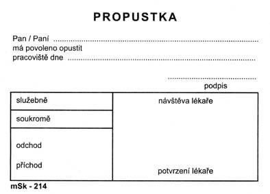 mSk 214 - PROPUSTKA A7 (214-mSk)    100L
