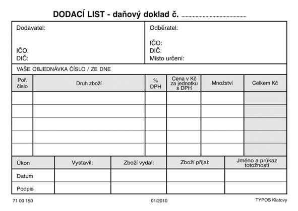 DODACÍ LIST A6-COPY       100L