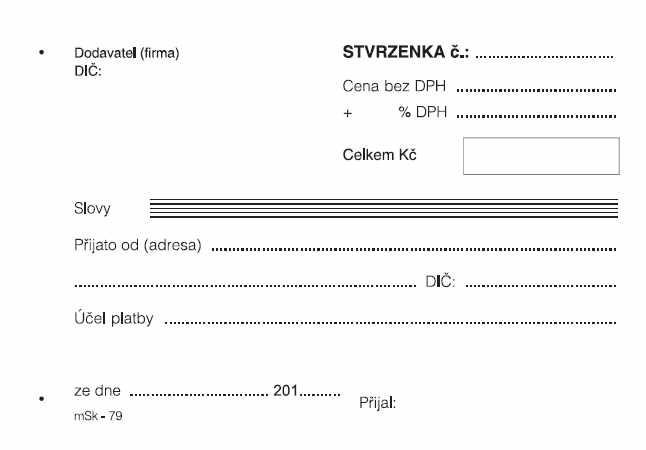 mSk 79 - Stvrzenka A6 nečíslovaná