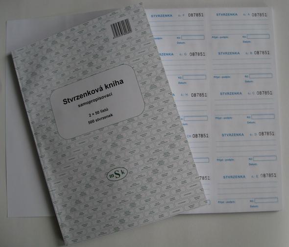 mSk 89 - Stvrzenková kniha NCR