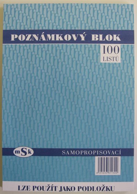 mSk 1130 - Poznámkový blok A4 - NCR