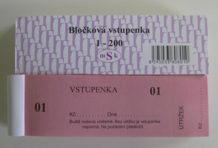 mSk 801 - Vstupenka blok 1-200