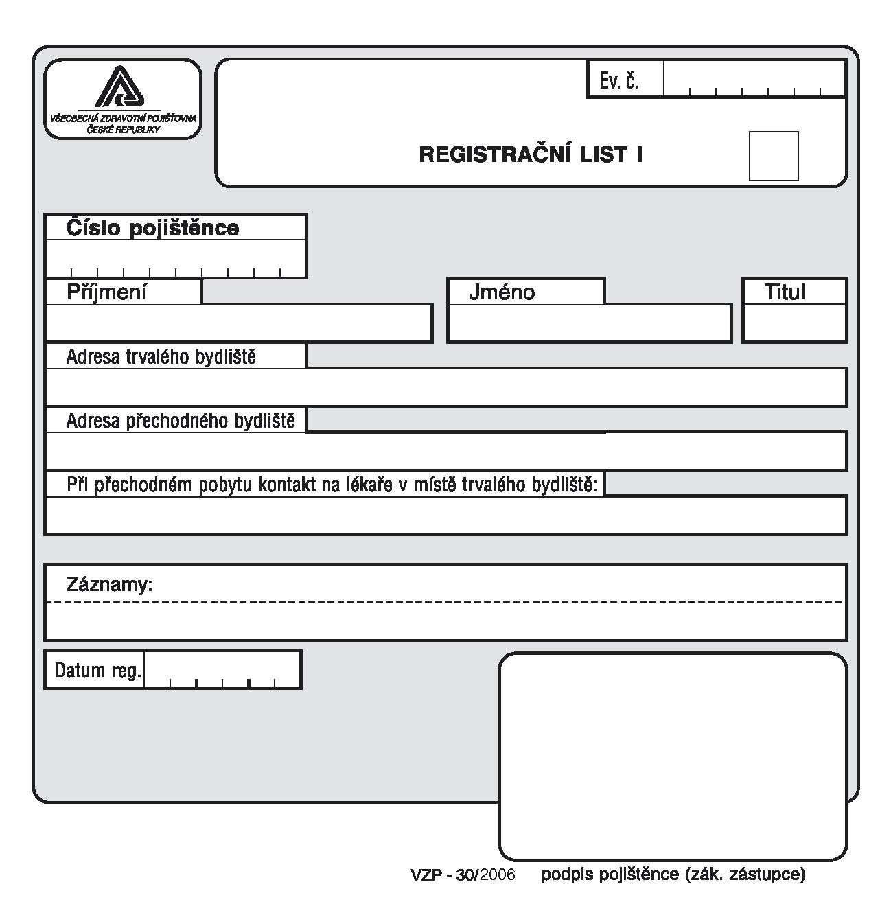 30-Registrační list